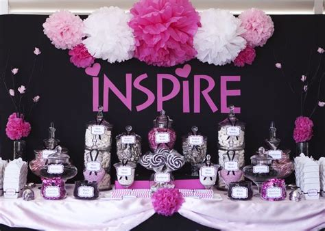 Pink Black And White Candy Buffet I Do The Menu Pink And Black Buffet