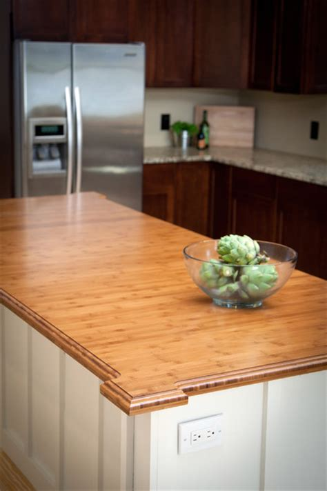 Bamboo Wood Countertops by Heritage Wood Kitchen Countertop In Bamboo Traditional