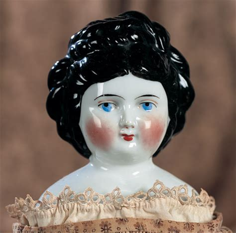 porcelain doll number 5 back silhouettes 234 german porcelain doll with fancy black