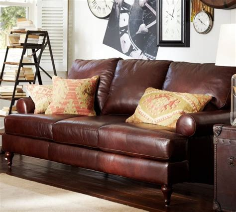 leather couch austin austin leather sofa from pottery barn for the home