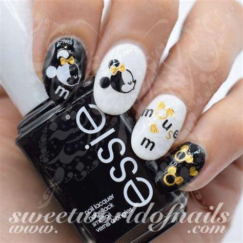 disney nail art gold mickey minnie nail water decals
