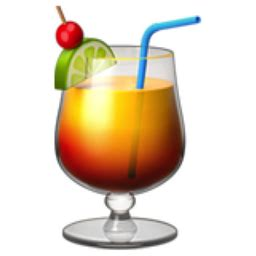 drink emoji tropical drink emoji u 1f379