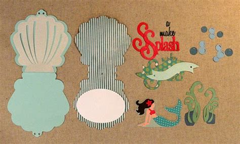 needles n knowledge mermaid quot make a splash quot pop up card