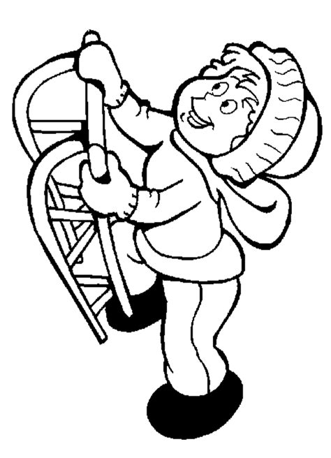 sledding coloring pages coloring home