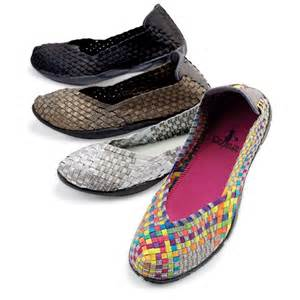 Stretch ballet woven flat shoes slip on for women at signals hp5202
