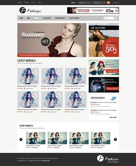 tutorial photoshop template web design design a clean e commerce website interface in photoshop