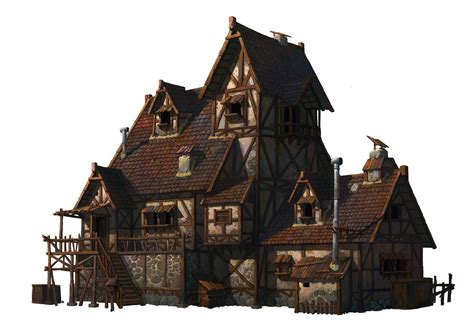 fantasy houses a medieval house whihoon lee whinbek on artstation at