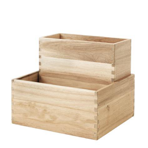 Ikea Kisten Holz by Kasten Set Quot Skogsta Quot Ikea Roomido