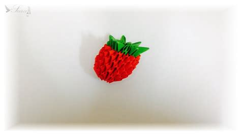 tutorial origami strawberry 3d origami strawberry youtube