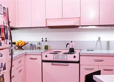 pink kitchen ideas purple and pink kitchen colors adding retro vibe to modern kitchen design and decor