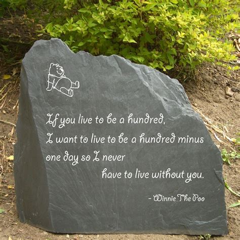 Garden Rocks With Sayings Garden Slate With Winnie The Pooh Quote I Would Definitely Make Sure Mine Said Winnie The