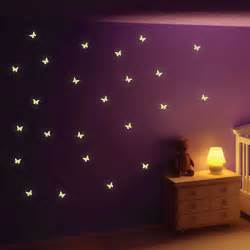 Glow In The Dark Wall Stickers glow in the dark butterfly wall stickers butterfly wall decor