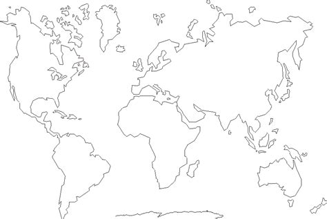 world map outline continents www pixshark images