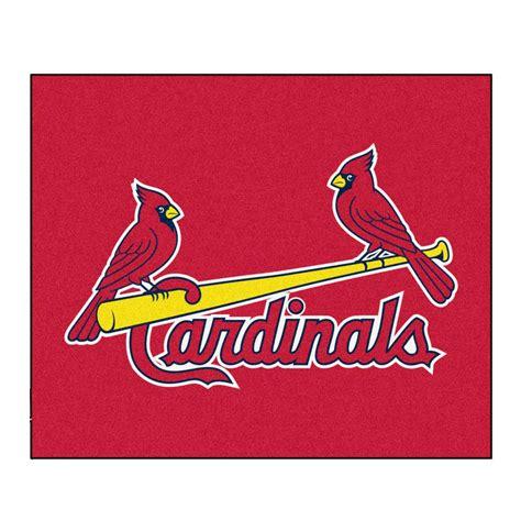 cardinals rug fanmats st louis cardinals 5 ft x 6 ft tailgater rug 6507 the home depot