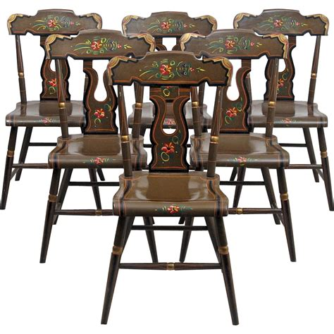 Lancaster County Upholstery by Lancaster County Pennsylvania Painted Chairs L B Ebersol Set Of From Oh On Ruby