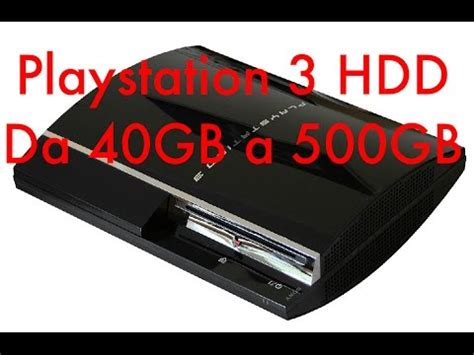 Ps3 Hardisk 40gb guida sostituzione hdd ps3 da 40gb a 500gb ita asurekazani