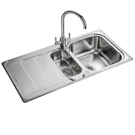 rangemaster houston 1 5 hs9852 stainless steel sink
