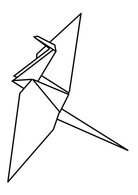 origami page coloring page origami img 29094