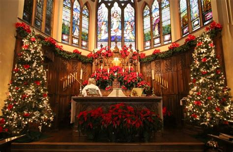 church altar at christmas pictures photos and images for