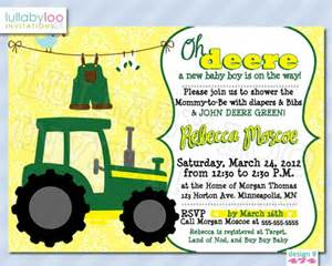 tractor baby shower invitations 474 from lullabyloo on artfire