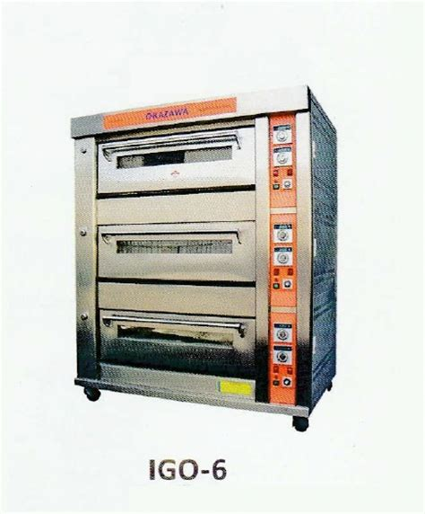 Oven Okazawa okazawa 3layer 6tray industrial gas oven my power tools