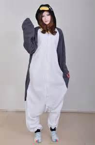 2016 new adult animal gray penguin cosplay pajamas onesie sleepwear