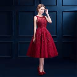 evening dress 2016 prom dress red party lace plus size tea