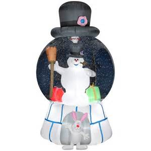 gemmy inflatable airblown frosty snow globe outdoor