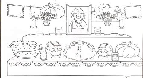 dia de los muertos altar coloring pages altar de muertos dibujo para colorear imprimir 3
