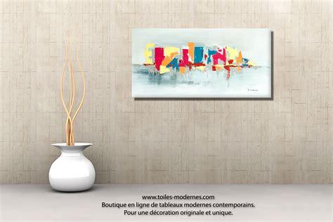 Peinture Entree Moderne by Tableau Fuchsia Gris D 233 Co Design Grande Toile Rectangle