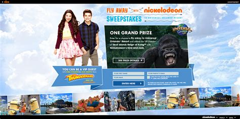 Universal Studios Sweepstakes 2016 - flyawaywithnick com fly away with nickelodeon sweepstakes 2016 sweepstakes lovers