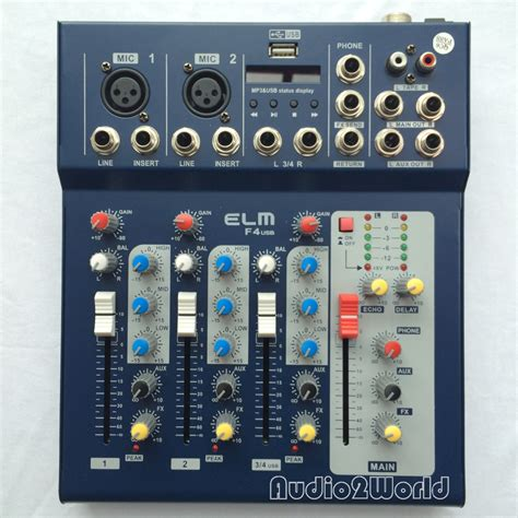Mixer Cina 4 Channel מוצר mini audio mixer f4 small mixing console 4 channel