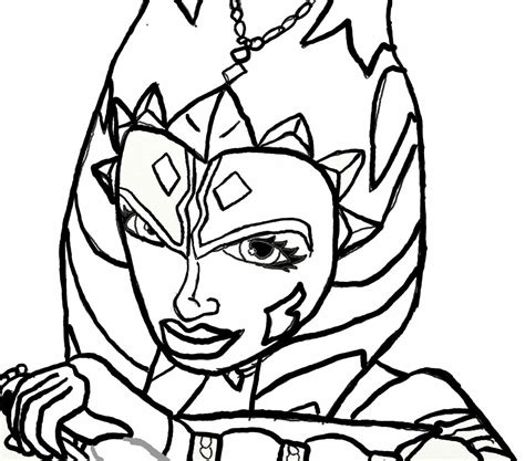 Ahsoka Tano Lineart By Chrisily On Deviantart Ahsoka Coloring Pages