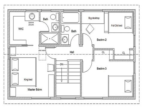 simple 2 bedroom floor plans 2 bedroom house simple plan simple house floor plan