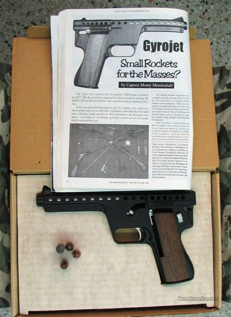 Mba Gyrojet Pistol For Sale by Mba Quot Rocketeer Quot Mk I Mdl B 13mm Gyrojet Rocket For Sale