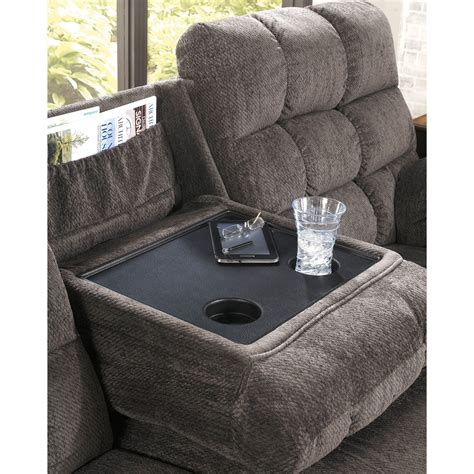 sofa table charging station reclining sectional sofa with right side loveseat cup