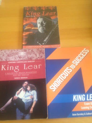 king lear books king lear leaving cert books for sale in templeogue
