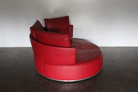 round red leather ottoman b b italia quot amoenus quot round circular ottoman sofa in red