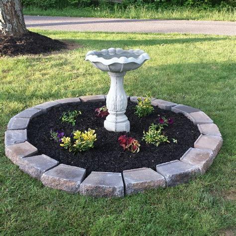 bird bath with flower bed bird bath garden pinterest