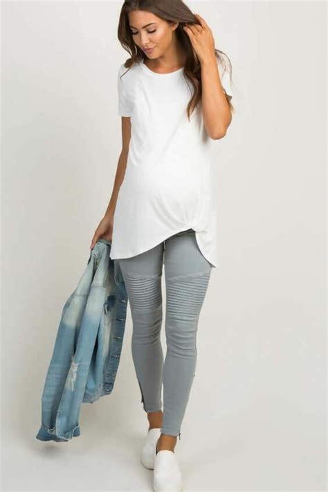 grey legging outfit ideas
