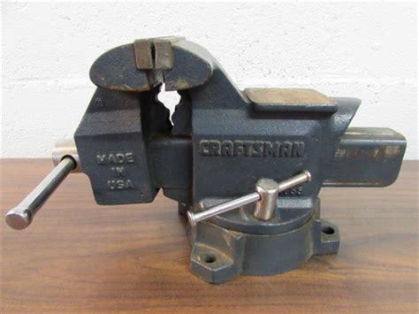 craftsman bench vise lot detail anvil top craftsman 5 5 quot bench vise with swivel