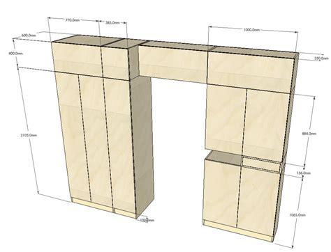 Tall Corner Kitchen Cabinet by Wardrobe Design Drawn In Sketchup