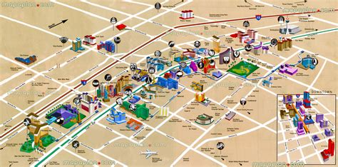 las vegas map work and travel usa listopada 2015