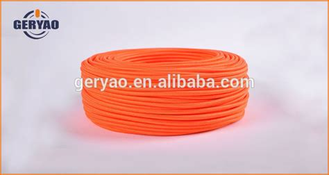colored fabric electrical cable cord orange fabric
