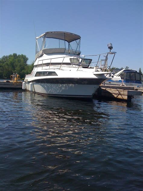 model boats toronto 1987 carver santego aft cabin flybridge model 2767