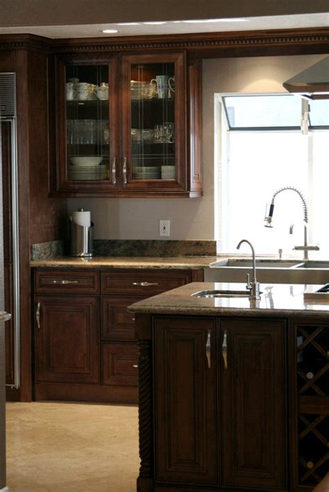 Cer Cabinets by Choclate Maple Glaze Kitchen Cabinets
