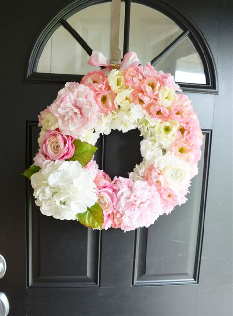 diy spring wreath diy spring wreath lovely life styling