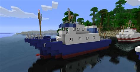 minecraft ferry boat ferries pack 4 sailable ships minecraft project