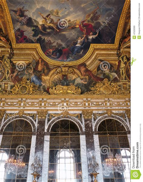 of mirrors painted ceiling at versailles palace