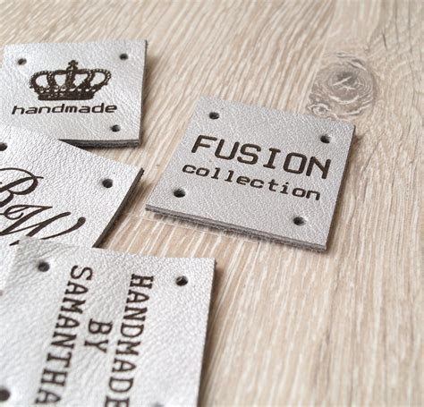 Sewing Tags Handmade By - sewing labels custom leather labels personalized leather